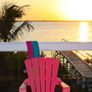 Pink Chair In The Keys Poster