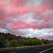 Pink Clouds Over Arizona Poster