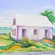 Pink Cottage Poster