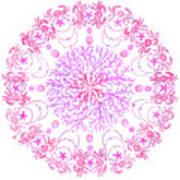 Pink Crab Mandala Poster