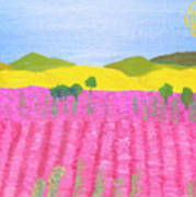 Pink Field Poster