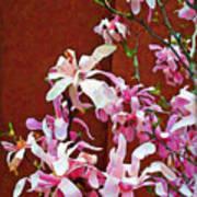 Pink Floral Arrangement Poster