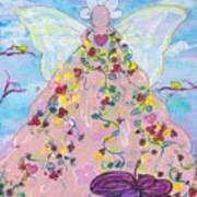 Pink Flower Angel Poster