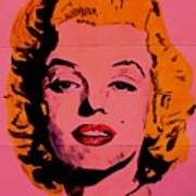 Pink Folded Marilyn Poster