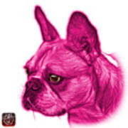 Pink French Bulldog Pop Art - 0755 Wb Poster