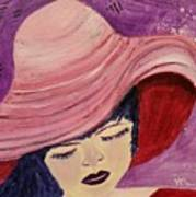 Pink Hat Poster