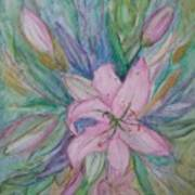 Pink Lily- Painting Poster