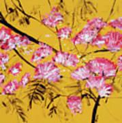 Pink Mimosa Tree Dark Yellow 201642 Poster