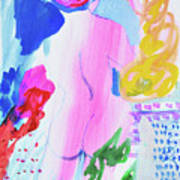 Pink Nude With Headwrap Poster