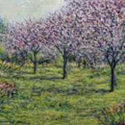 Pink Orchards Garden Poster