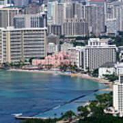 Pink Palace Waikiki Honolulu Poster