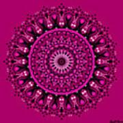 Pink Passion No. 3 Mandala Poster