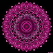 Pink Passion No. 7 Mandala Poster