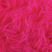 Pink Plush Fabric Poster