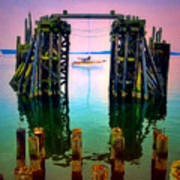 Pink Skies In Port Townsend Poster