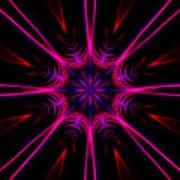 Pink Starburst Fractal  Poster
