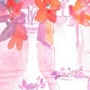 Pink Still Life Poster