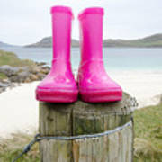 Pink Wellies Poster