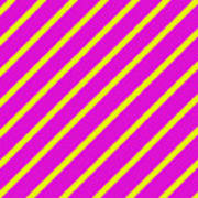 Pink Yellow Angled Stripes Poster