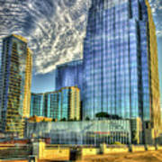 Pinnacle Building Sunset Nashville Shadows Nashville Tennessee Art Poster