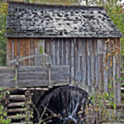 Pioneer Water Mill Poster by DigiArt Diaries by Vicky B Fuller