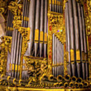 Pipe Organ Detail Poster