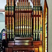Pipe Organ In Church Poster