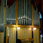 Pipe Organ Of Old Poster