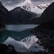 Piramide Reflecting In Lake Paron, Cordillera Blanca, Peru Poster