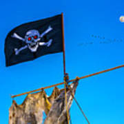 Pirate Flag And Moon Poster