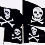 Pirate Flags Poster by David Lee Thompson