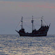Pirate Ship At Clearwater Poster