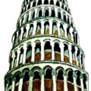 Pisa Erected Poster