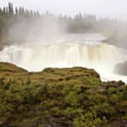 Pisew Falls Northern Manitoba Canada Poster