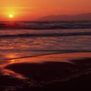 Pismo Beach Sunset Poster