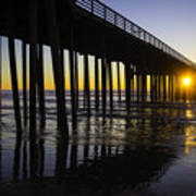 Pismo Sunset Wharf Poster