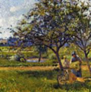 Pissarro: Wheelbarr., 1881 Poster