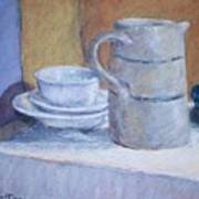 Pitcher With Bowl And Plate Poster