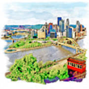 Pittsburgh Aerial View Poster
