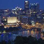 Pittsburgh Blue Hour Panoramic Poster