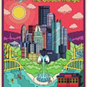 Pittsburgh Poster - Pop Art - Travel Poster