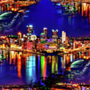 Pittsburgh Skyline Art Poster