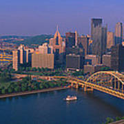 Pittsburgh,pennsylvania Skyline Poster