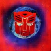 Pixeled Autobot Poster