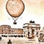 Place Du Carrousel 1878 Poster