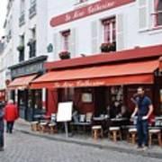 Place Du Tertre In Paris Poster