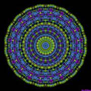 Plaid Wheel Mandala Poster