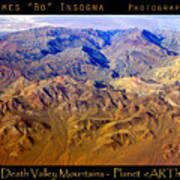 Planet Art Death Valley Mountain Aerial Poster