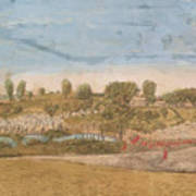 Plate IIi The Engagement At The North Bridge In Concord 1775 Poster