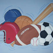 Play Ball Poster by Valerie Carpenter